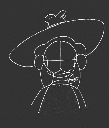 Drawing a Hairdo, Hat, Moustache and Beard for Animation Character - 5