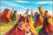"Backgrounds for feature length animation ""Animal wars"" - 14"