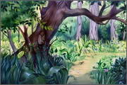 "Backgrounds for feature length cartoon ""In Alhoks' country"" - 24"