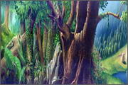 "Backgrounds for feature length cartoon ""In Alhoks' country"" - 4"